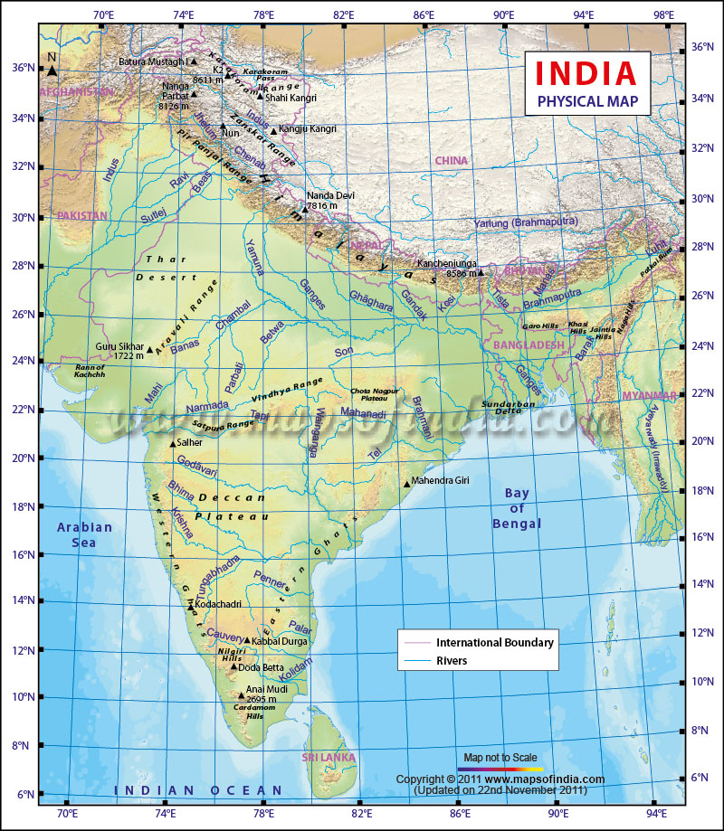 Enjoy Reading India Map With Different Information