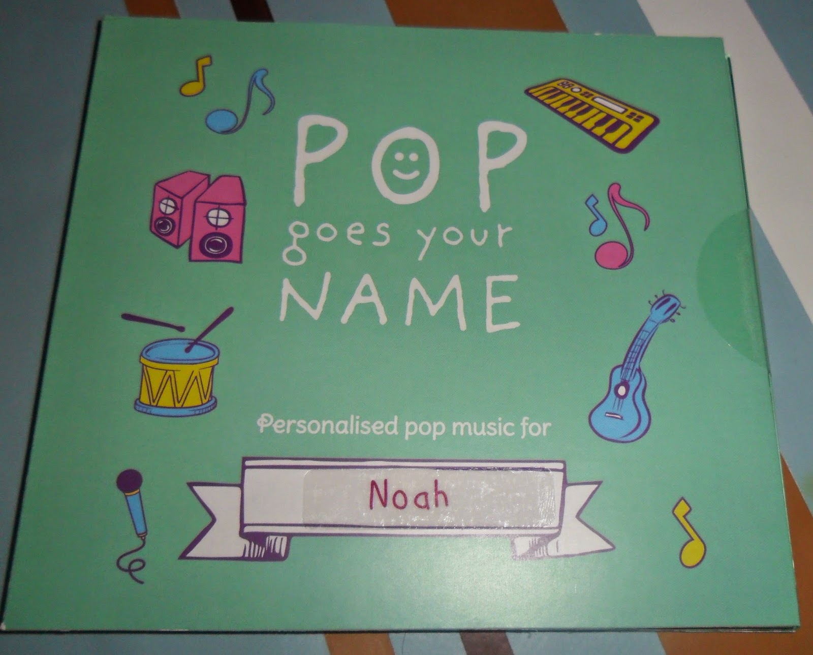 pop goes your name personalised cd UK