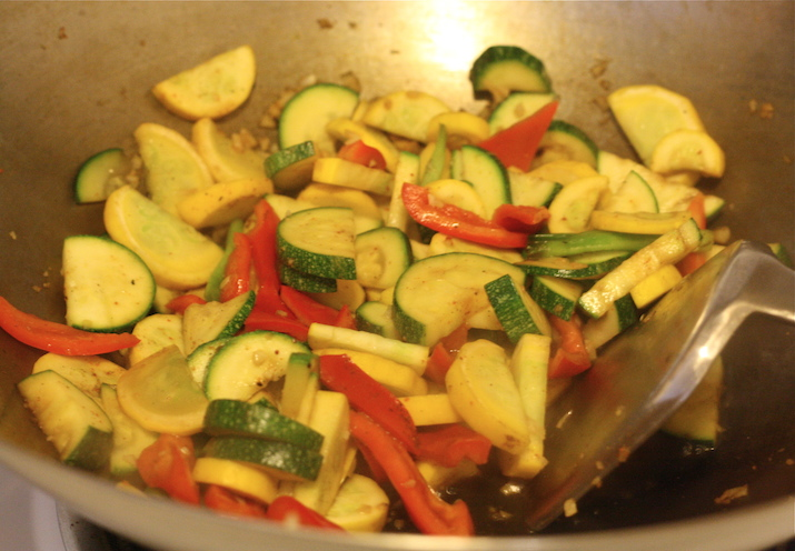 for this zucchini stir fry i used a mix of zucchini yellow squash ...