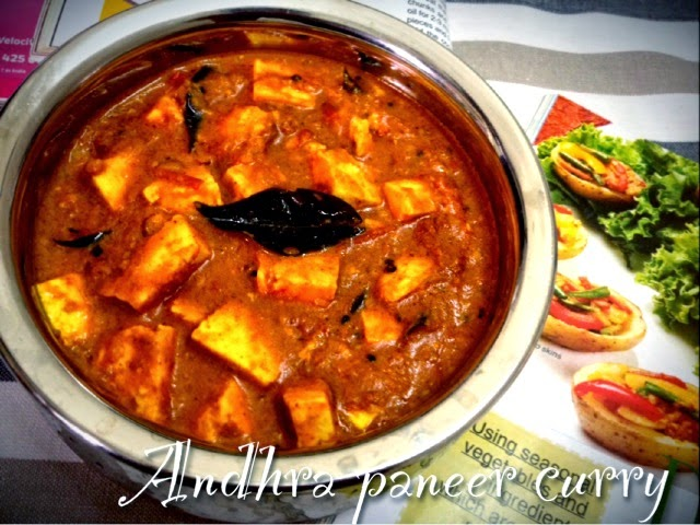 Only indian food andhra paneer curry for Andhra cuisine dishes