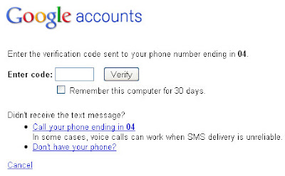 Gmail 2-step verification