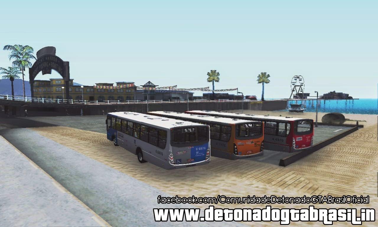 GTA SA - Pack de Ônibus Circulares de São Paulo