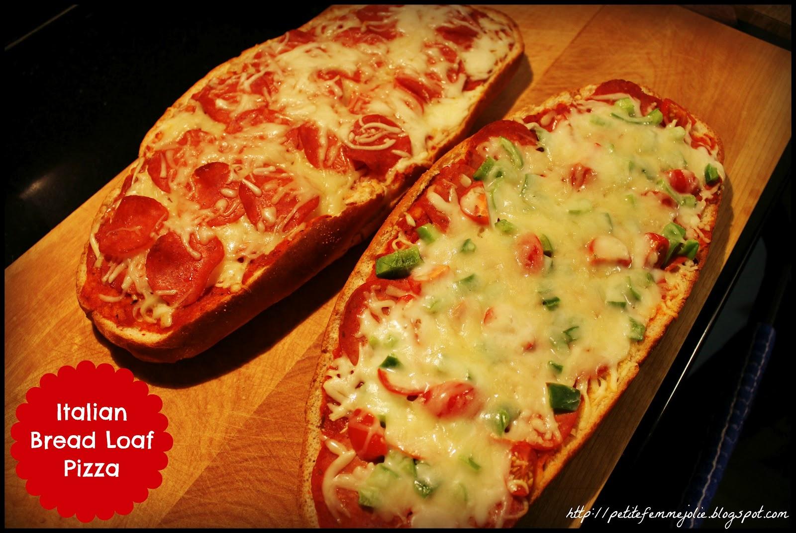 petite femme jolie: Tasty Tuesday - Italian Bread Loaf Pizza