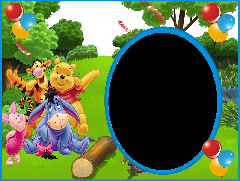 Marcos Gratis para copiar y descargar: marco de winnie pooh para foto