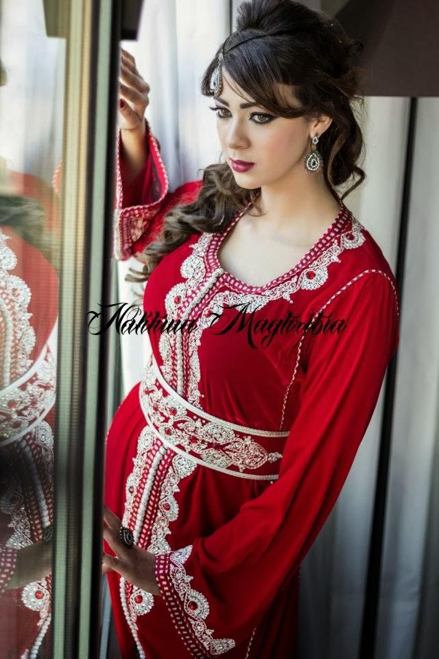 Salon Marocain Velour Rouge : Vente caftan marocain en ligne boutique et
