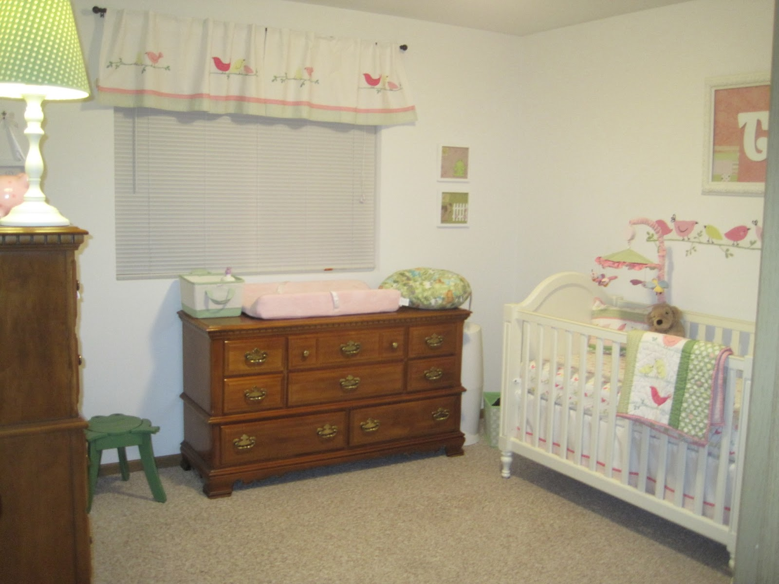 Mommy mia monologues do it yourself nursery decorating art idea we hung the pictures right next to her changing table share your ideas for diy nursery solutioingenieria Gallery