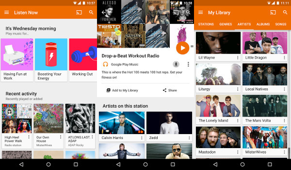 Apps para Android - Google Play Music
