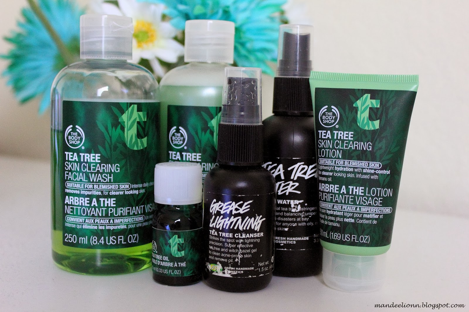 The Body Shop Facial wash Toner Tea Tree Oil and Lotion Lush Grease Lightning and Tea Tree Water (toner) : grease lighting lush - azcodes.com