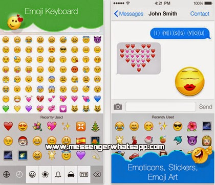 Descarga Emojis Keyboard en tu iPhone  iOS 7 con WhatsApp.