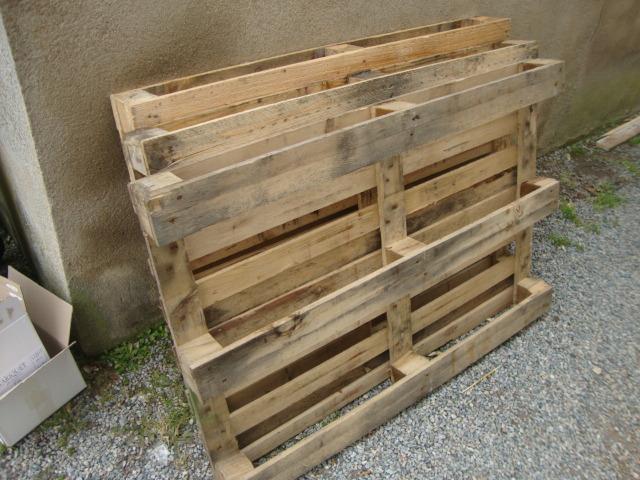 Recyclage palettes mobilier de jardin en palettes - Mobilier de jardin en palette ...