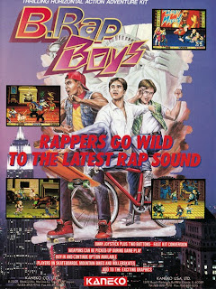 B Rap Boy arcade game portable flyer