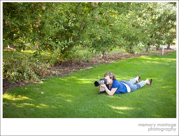engagement photo behind the scenes