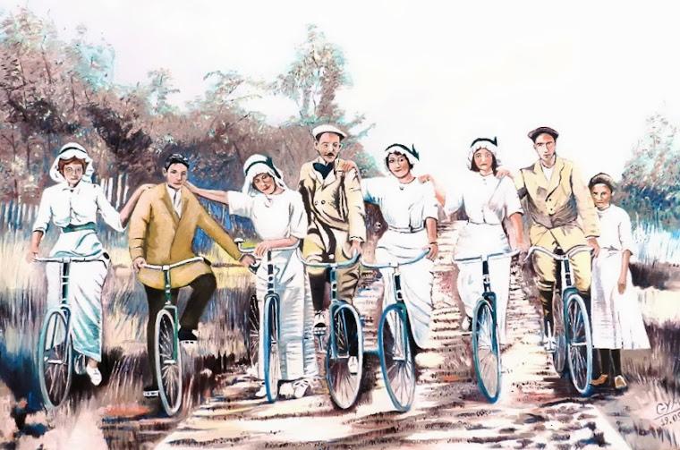 Les 7 cyclistes en 1913...