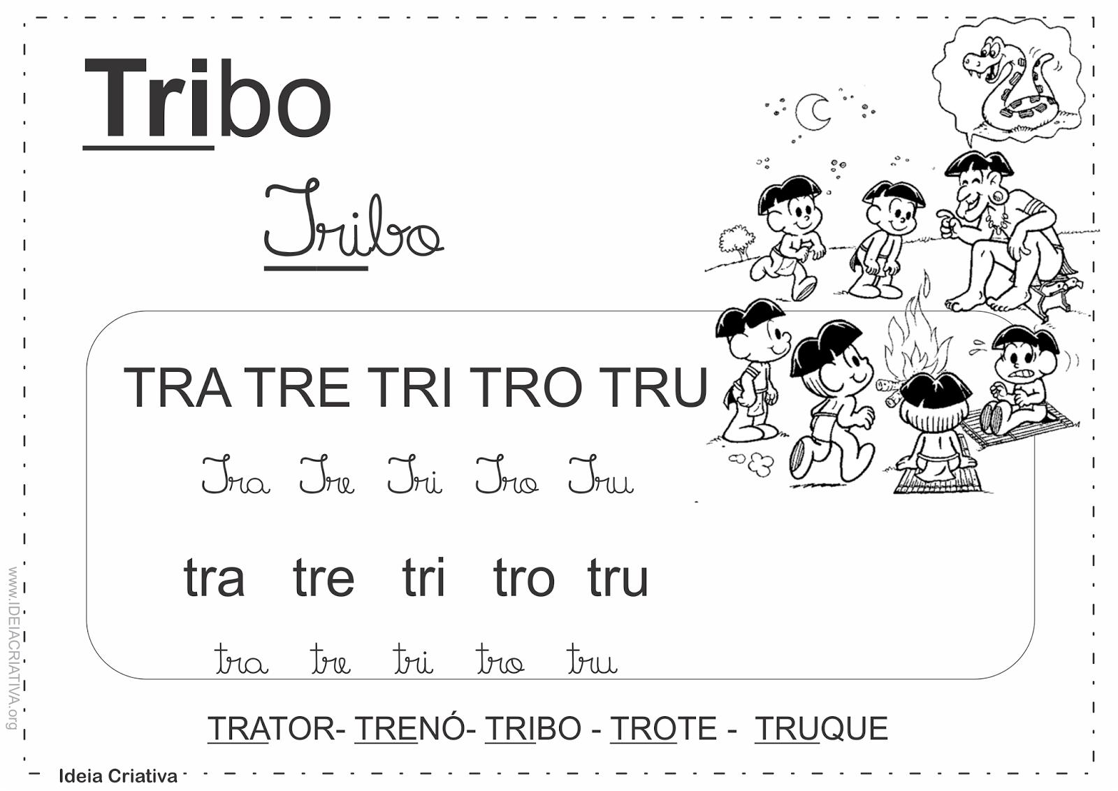 Cartaz Sílabas Complexas Turma da Mônica Dificuldades Ortográficas.
