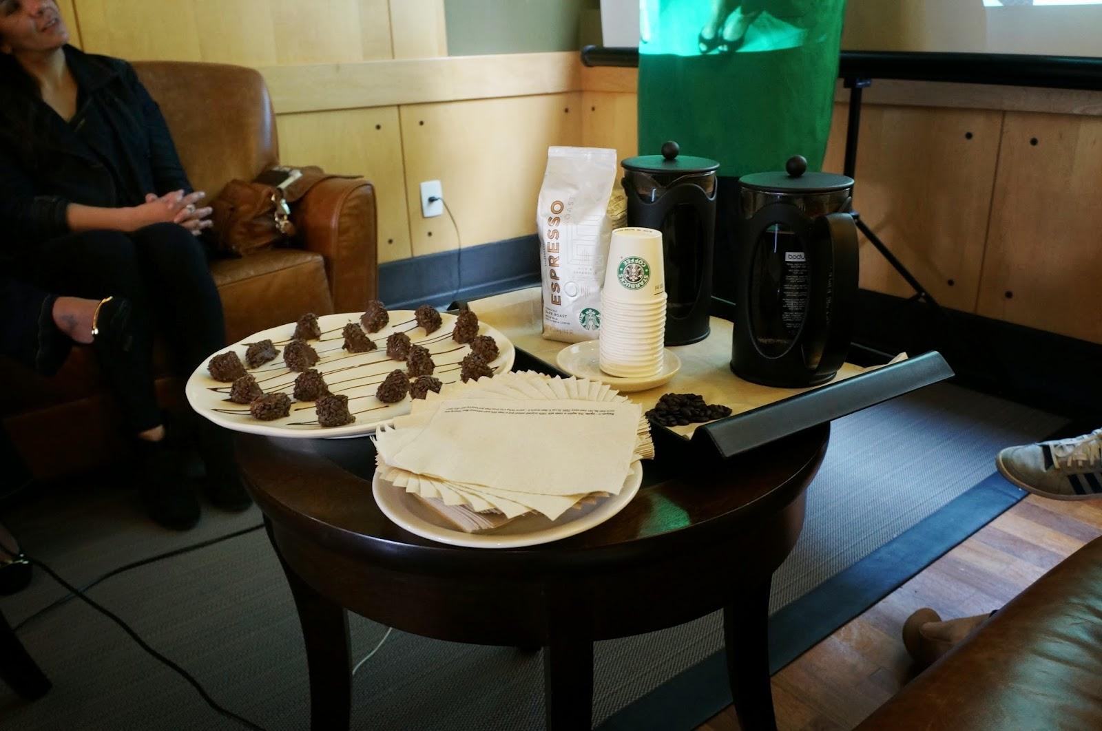 degustação de café na Starbucks - foto do Blog Carina Pedro