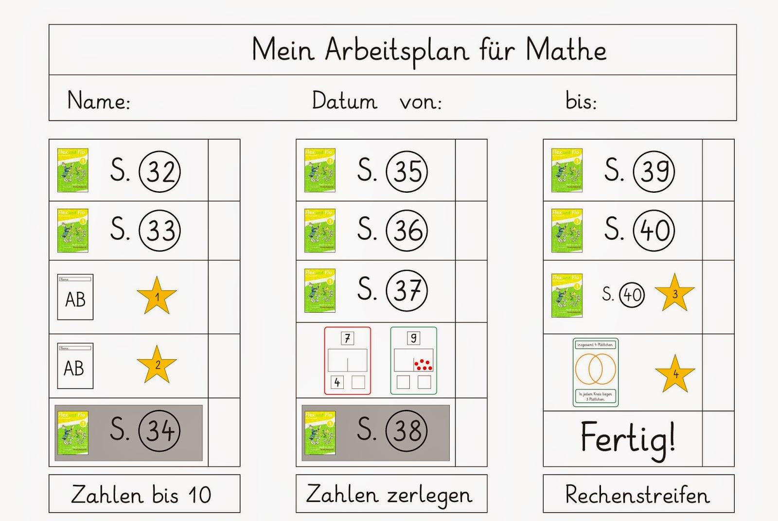 Arbeitsplan Für Mathe
