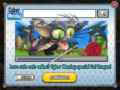 imagen de la promocion del dragon gato por el lunes cibernetico