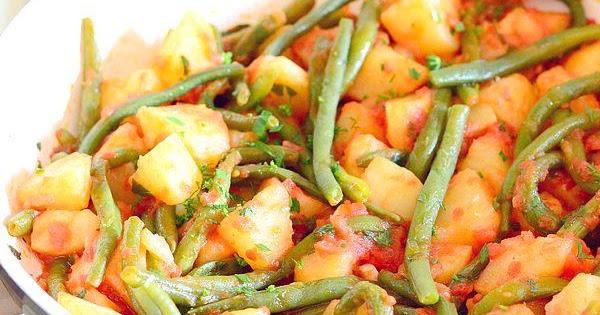 Fagiolini e patate al pomodoro cucina green for Cucinare fagiolini