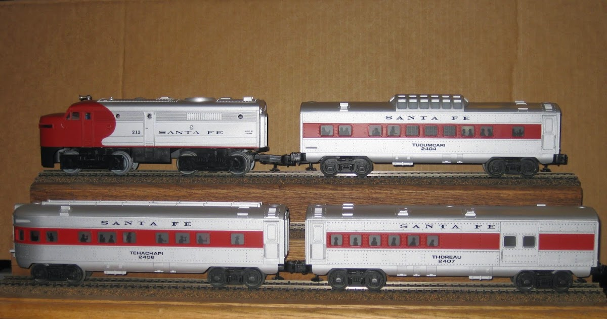 LIONEL DIESEL LOCOMOTIVE WARBONNET SANTA FE #212 PASSENGER TRAIN CARS ...