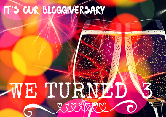 We're celebrating our 3rd Bloggiversary!