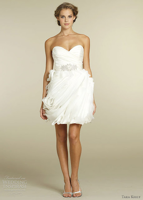 Lamb blonde wedding wednesday short sweet for Short wedding dresses 2012