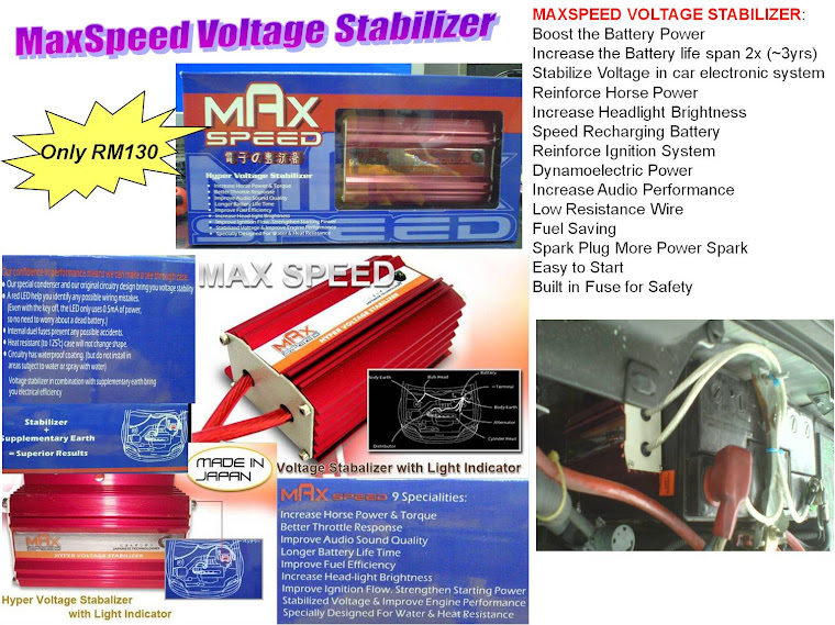 MAX SPEED Voltage Stilizer - RM130