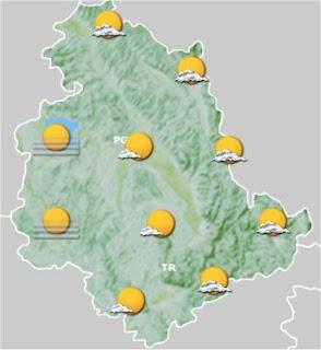 previsioni meteo Umbria 17-18 novembre