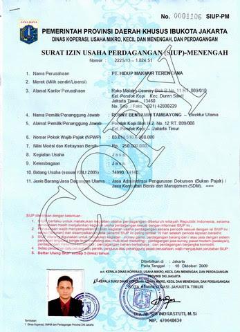 70 Free Download Contoh Formulir Surat Izin Usaha Perdagangan