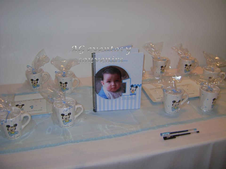 AG Souvenirs: Primer Añito de Lucas con la temática de Baby Mickey !!