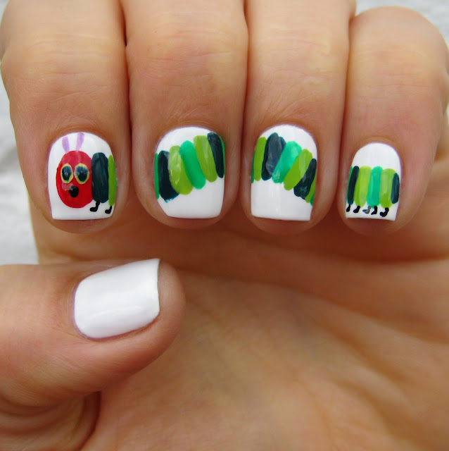 The Very Hungry Caterpillar Nail Art