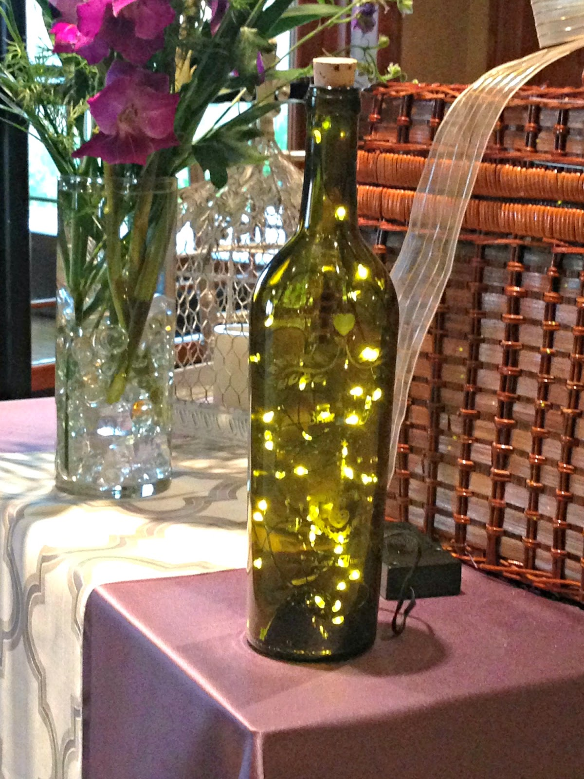 Lighted Wine Bottles DIY