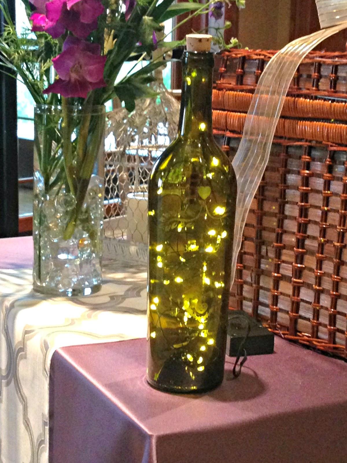 Lighted Wine Bottles DIY