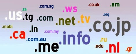 list of domain extensions