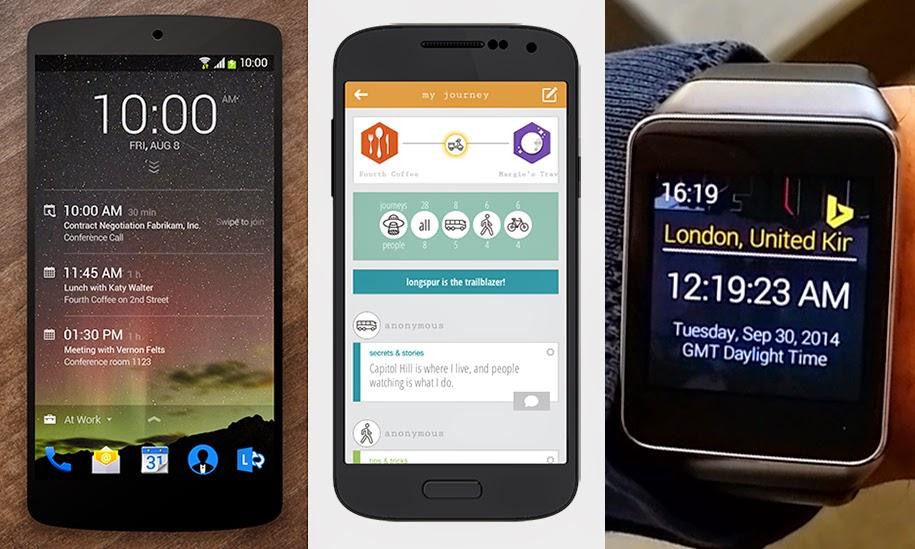 Microsoft Ra Mắt 3 App Android Dự Án Garage Bao Gồm: Lockscreen, App Du Lịch, Tìm Kiếm Trên Smartwatch