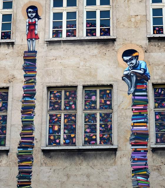 Street Art By Brazilian Artist Tinho On The Streets Of Frankfurt, Germany. close up