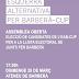 29 de març, Assemblea Oberta per escollir les candidates de l'EAB-CUP a la llista de Junts per Barberà
