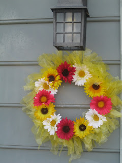 Wreath using recycled items