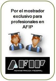 Por nuestro mostrador profesional en AFIP