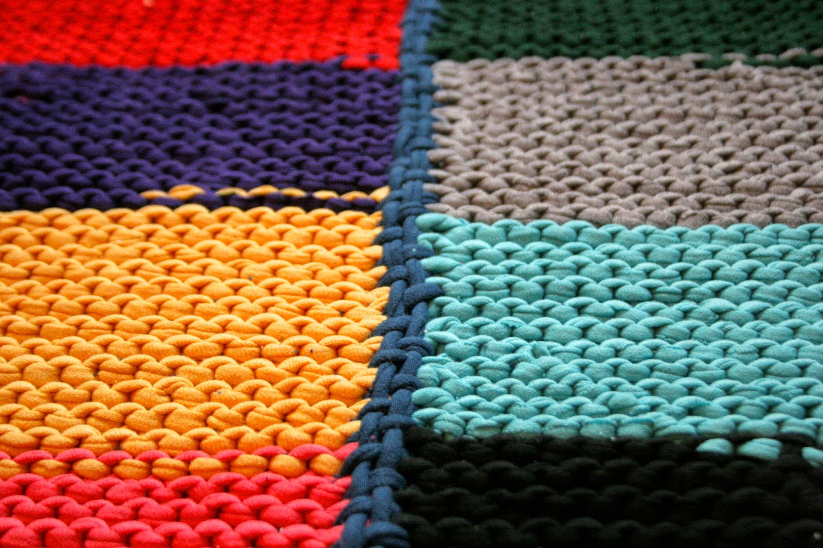 Knitted T-Shirt Rug - The Surznick Common Room