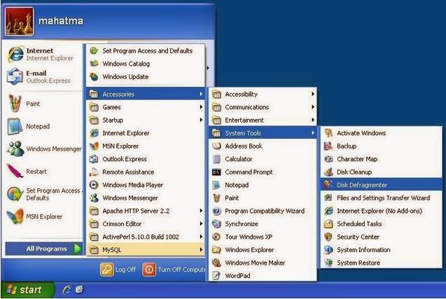 Cara Melakukan Disk Defragmenter Pada Windows XP dan 7