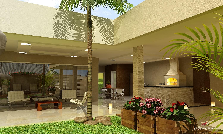 Arquitetura e Interiores: Área de Lazer Piscina e Churrasqueira #4D6018 1500 900