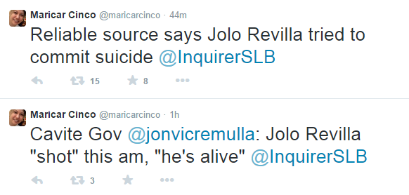 Jolo Revilla Suicide
