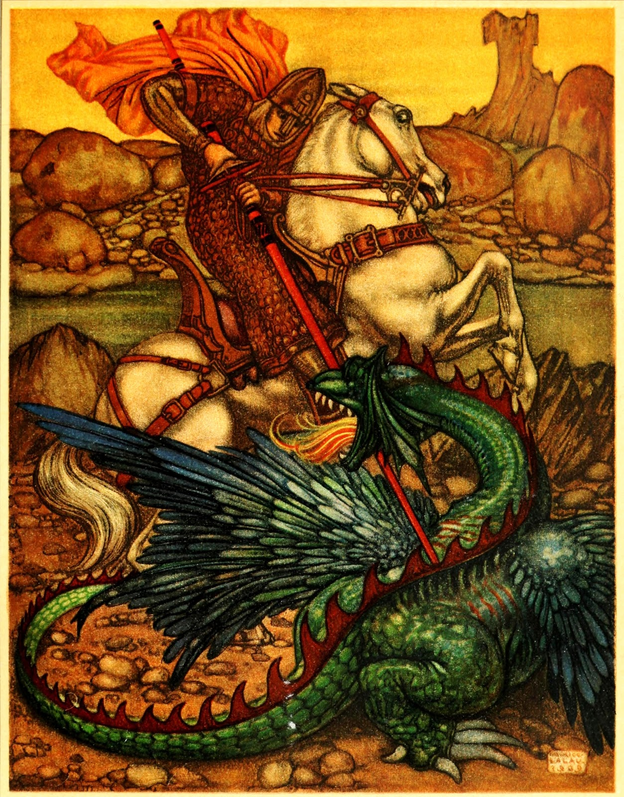 Art of Narrative: Maurice Lalau ~ The Romance of Tristram and Iseult