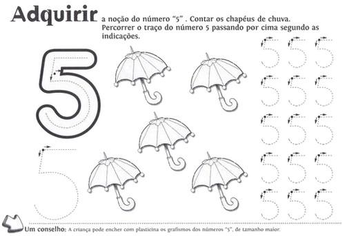 ATIVIDADES COM NUMERAIS - NÚMEROS PARA COBRIR E COLORIR NUMEROS+1+A+10+COBRIR+E+COLORIR+N+5