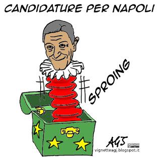 Bassolino, napoli, sindaco di napoli, vignetta satira
