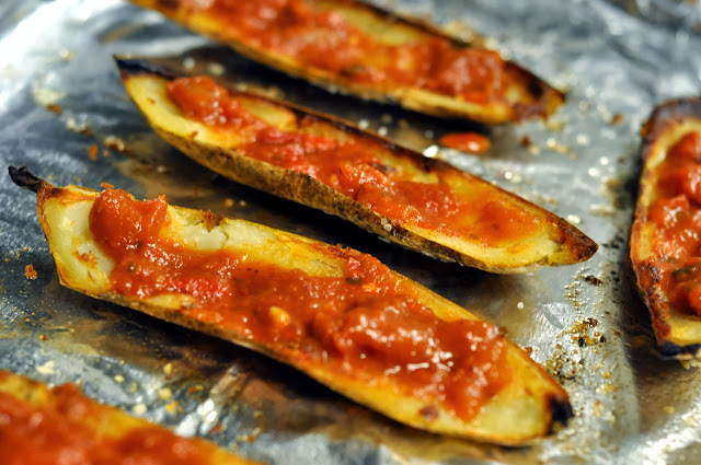 Pepperoni Pizza Potato Skins | Taste As You Go