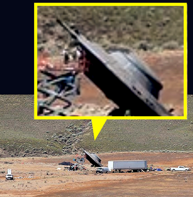 X-Files Filming at 'UFO Crash Site'