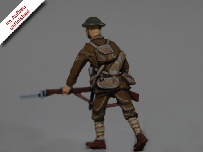 Erster Weltkrieg Diorama eines englischen Schützengrabens mit Tank und Soldaten, Diorama of a British Trench in WWI Bild 13