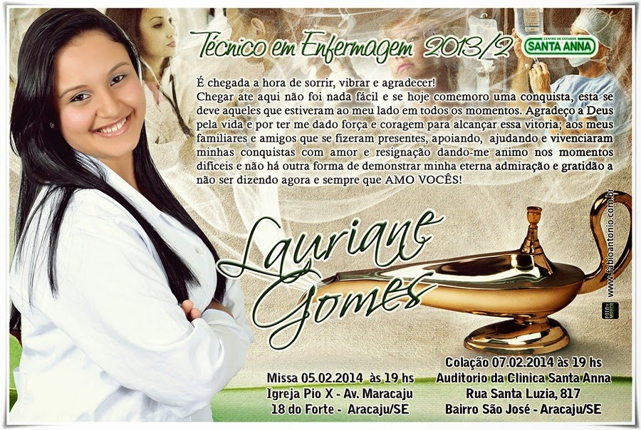 Convite Técnico Em Enfermagem Santa Anna 2013 2
