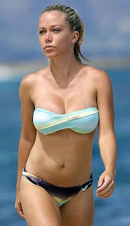 Kendra Wilkinson blue bikini Hawaii